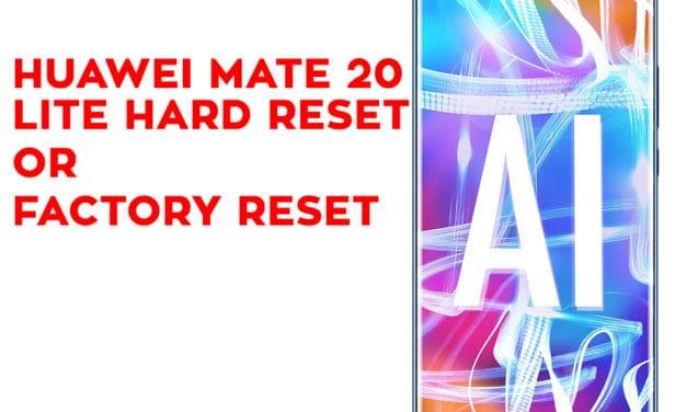 HUAWEI Mate 20 Lite Hard Reset – HUAWEI Mate 20 Lite Factory Reset – Unlock Pattern Lock