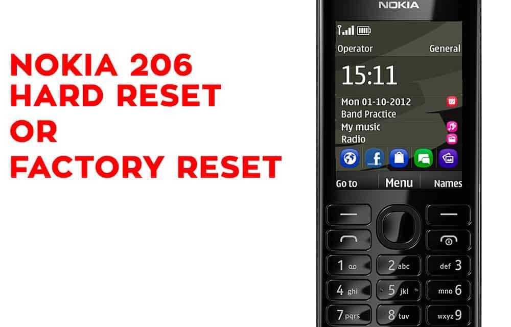 NOKIA 206 Hard Reset - NOKIA 206 Factory Reset - Hard Reset Any Mobile