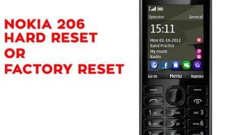 NOKIA 206 Hard Reset – NOKIA 206 Factory Reset