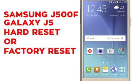SAMSUNG J500F Galaxy J5 Hard Reset – SAMSUNG J500F Galaxy J5 Factory Reset