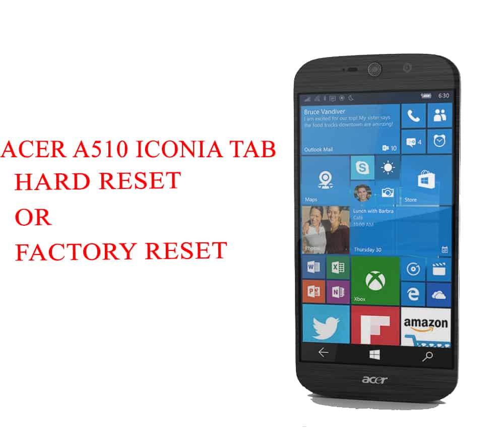 ACER A510 Iconia Tab Hard Reset -ACER A510 Iconia Tab