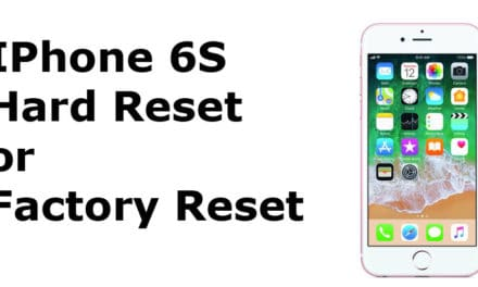 iPhone 6s Hard Reset – iPhone 6s Factory Reset, Recovery, Unlock Pattern