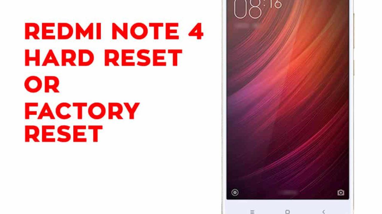 Xiaomi Redmi Note 4 Hard Reset, Factory Reset, Soft Reset