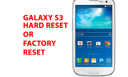 Samsung Galaxy S3 Hard Reset – Factory Reset – Recovery – Unlock Pattern