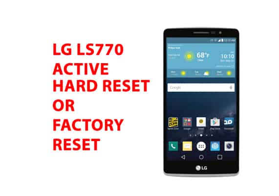 LG ls770 Hard Reset or Factory Reset