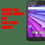 Moto g3 Hard Reset - Moto g3 Factory Reset, Recovery, Unlock Pattern