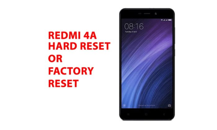 Redmi 4a Hard Reset or Factory Reset