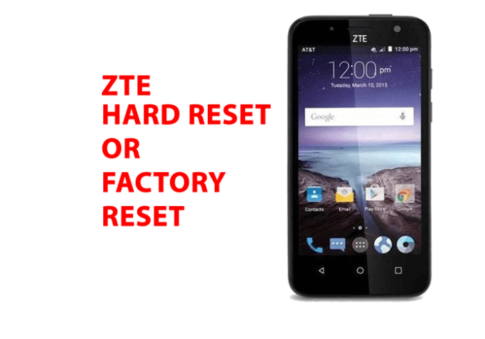 Zte android Hard Reset - Zte android Factory Reset, Recovery, Unlock Pattern