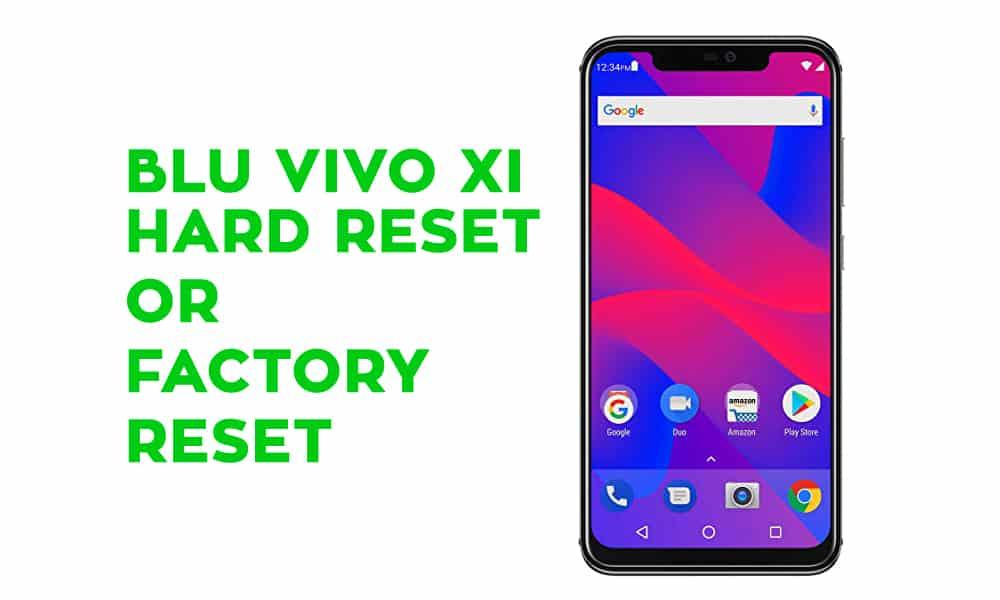 BLU Vivo XI Hard Reset - Factory Reset - Recovery - Unlock Pattern