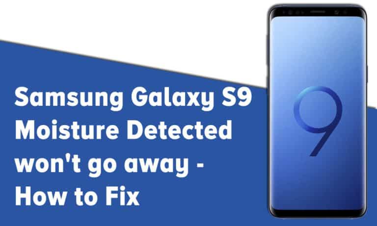 Samsung Moisture Detected