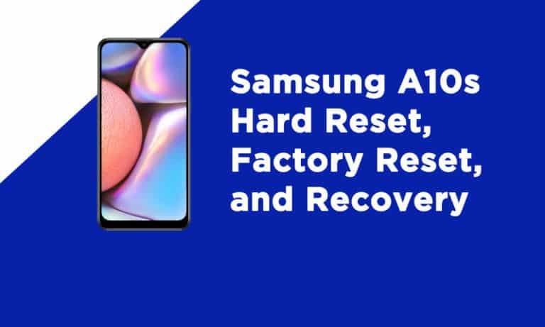 Samsung A10s Factory Reset