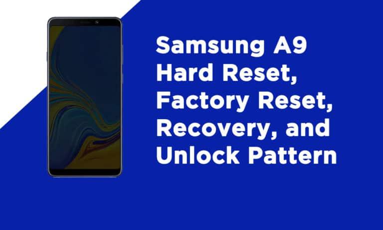 Samsung A9 Factory Reset