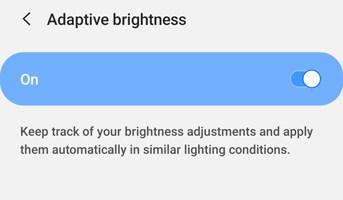 Samsung Auto Brightness