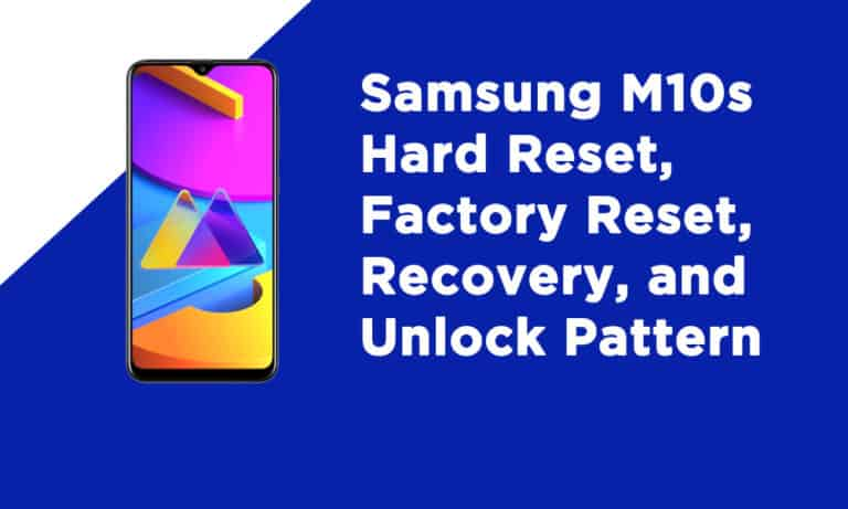 Samsung Galaxy M10 Factory Reset