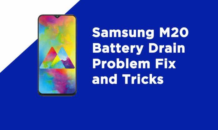 Samsung M20 Battery Drain Problem Fix