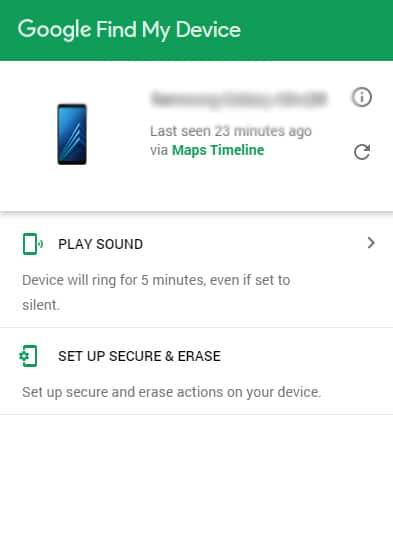 Google Find My Device Login