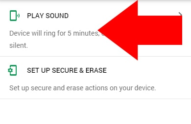 Google Find My Device Play Sound