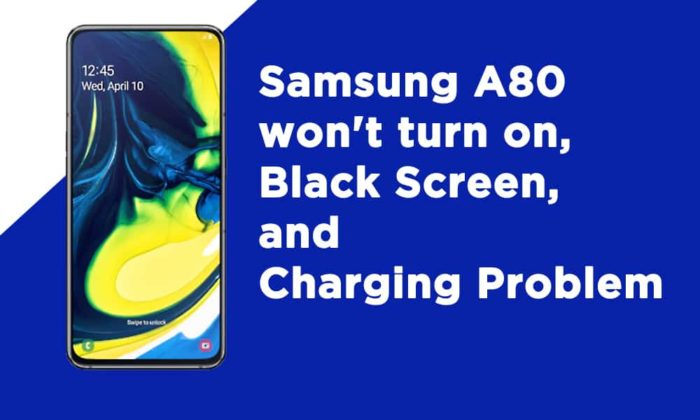 Samsung A80 won't turn on