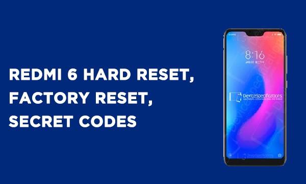 Redmi 6 Hard Reset
