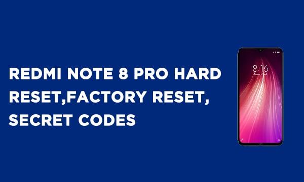 Redmi Note 8 Pro Hard Reset