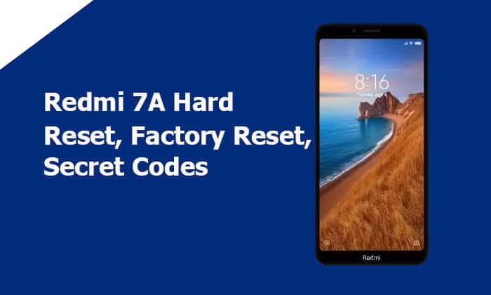 Redmi 7A Hard Reset