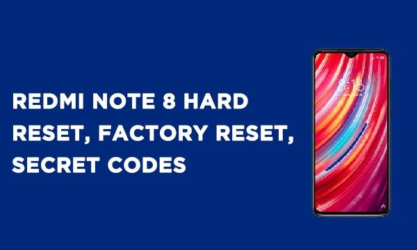 Redmi Note 8 Hard Reset