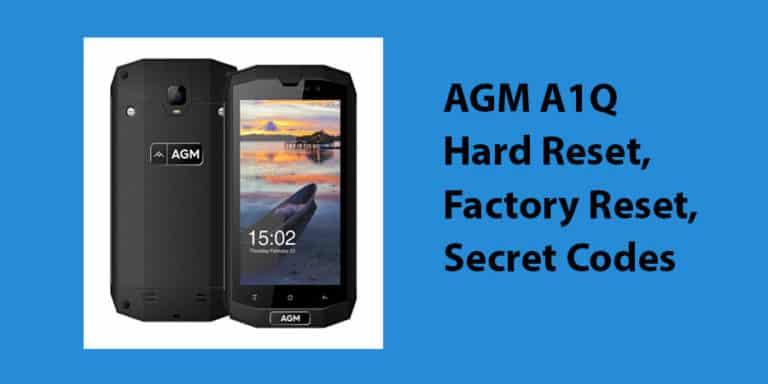 AGM A1Q Hard Reset