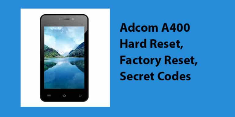 Adcom A400 Hard Reset