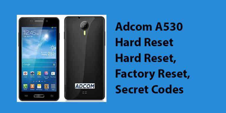 Adcom A530 Hard Reset