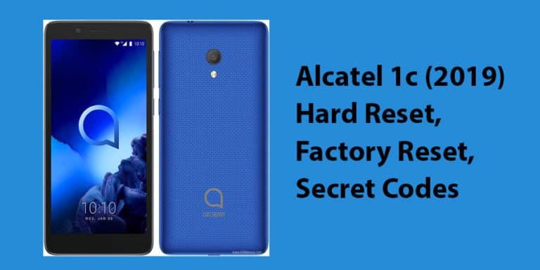 Alcatel 1c (2019) Hard Reset