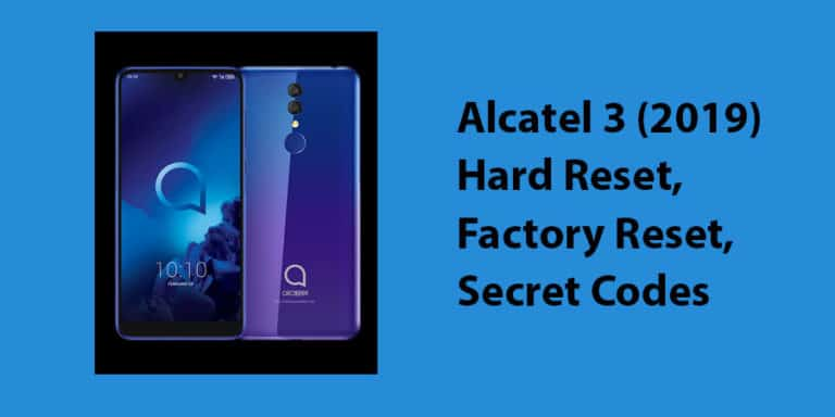 Alcatel 3 (2019) Hard Reset