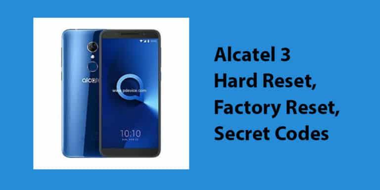 Alcatel 3 Hard Reset