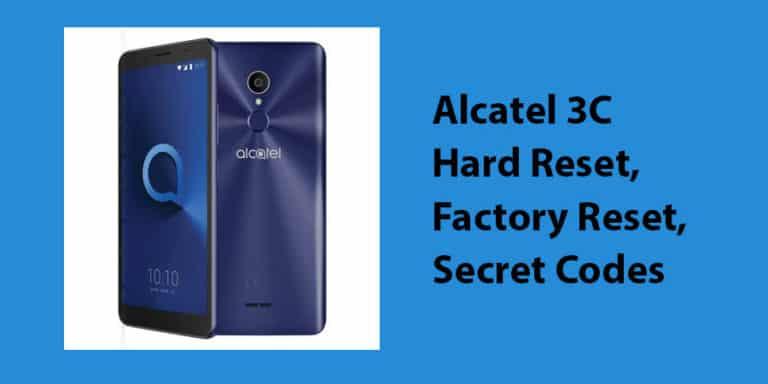 Alcatel 3C Hard Reset