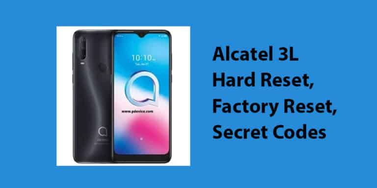 Alcatel 3L Hard Reset