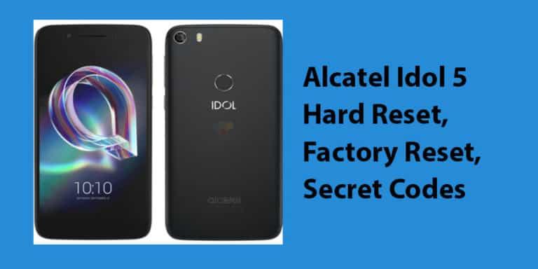 Alcatel Idol 5 Hard Reset