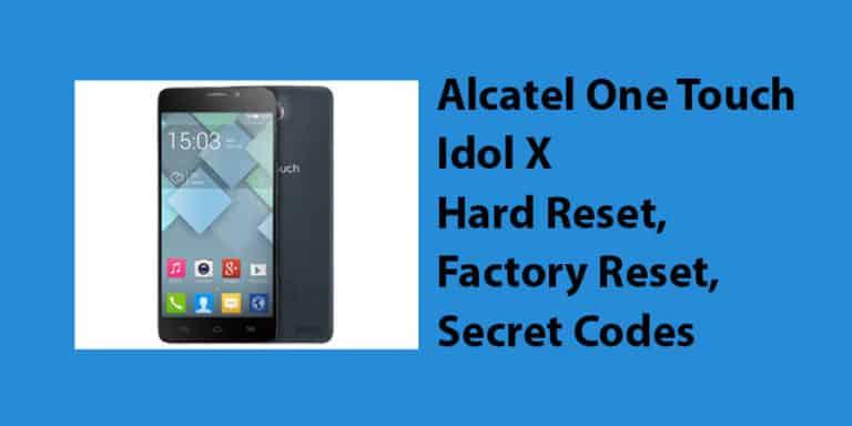 Alcatel One Touch Idol X Hard Reset