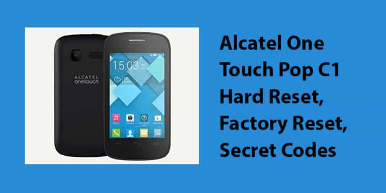 Alcatel One Touch Pop C1 Hard Reset