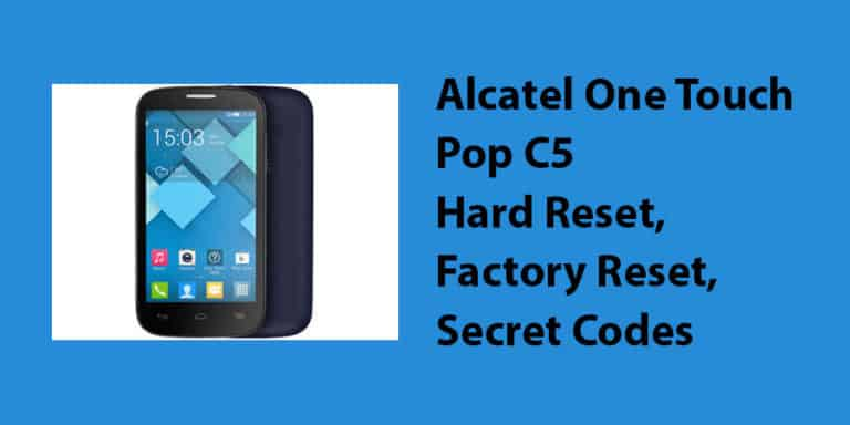Alcatel One Touch Pop C5 Hard Reset