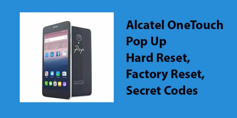 Alcatel OneTouch Pop Up Hard Reset