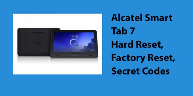 Alcatel Smart Tab 7 Hard Reset