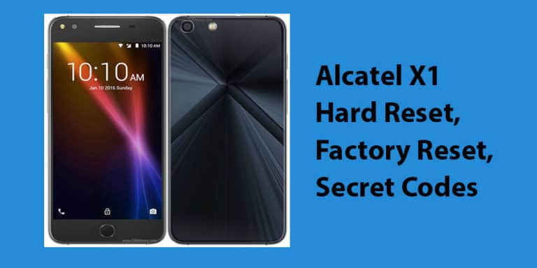 Alcatel X1 Hard Reset