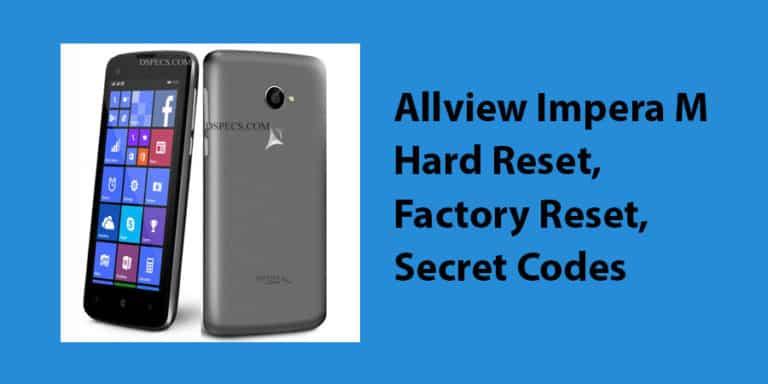 Allview Impera M Hard Reset