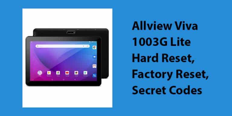 Allview Viva 1003G Lite Hard Reset